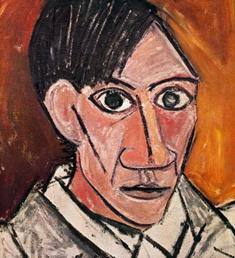 Pablo Picasso. Autorretraro (1907). Oleo 50 x 46 cm. Narodni Gallery. Praga