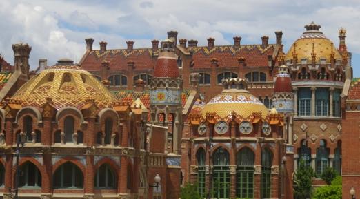 Pabellones y cúpulas del H. Santa Creu i Sant Pau (hoy Museo)